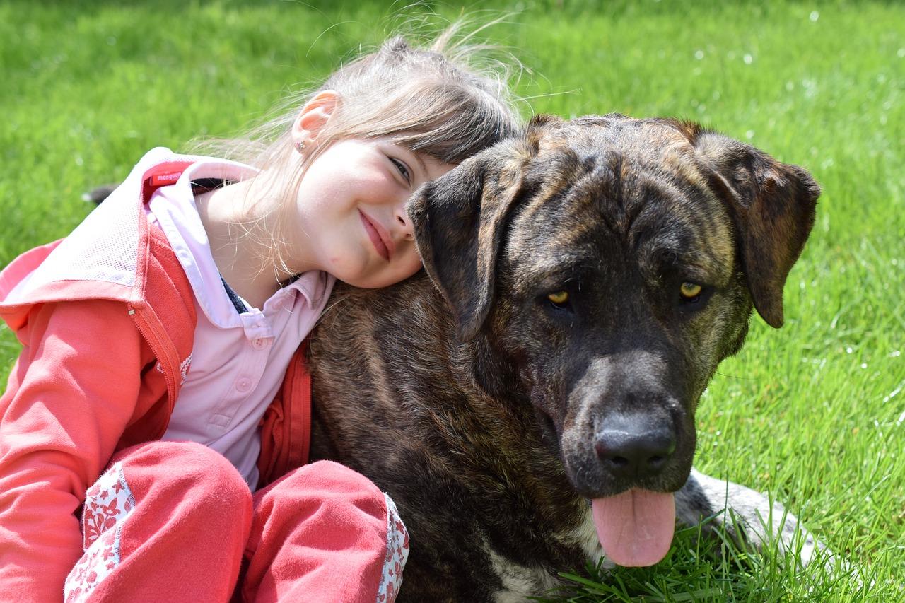 perro y niña